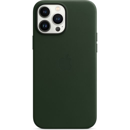 Apple Leather Case for iPhone 13 Pro Max - Sequoia Green