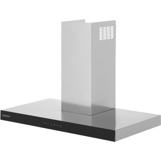 Samsung Prezio NK36M5070BS 90 cm Chimney Cooker Hood - Stainless Steel / Black Glass - B Rated