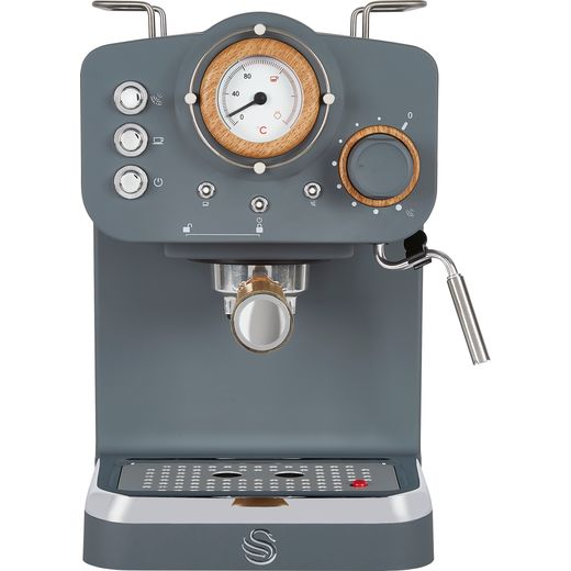 Swan Nordic SK22110GRYN Espresso Coffee Machine - Grey