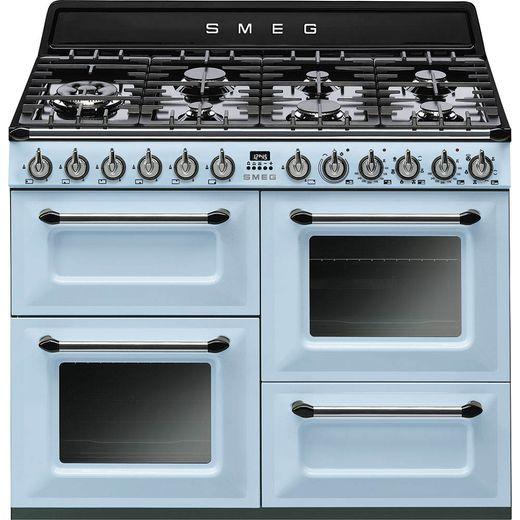 Smeg Victoria TR4110AZ 110cm Dual Fuel Range Cooker - Pastel Blue - A/A Rated