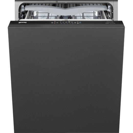 Smeg DI361C Fully Integrated Standard Dishwasher - Black Control Panel with Fixed Door Fixing Kit - C Rated