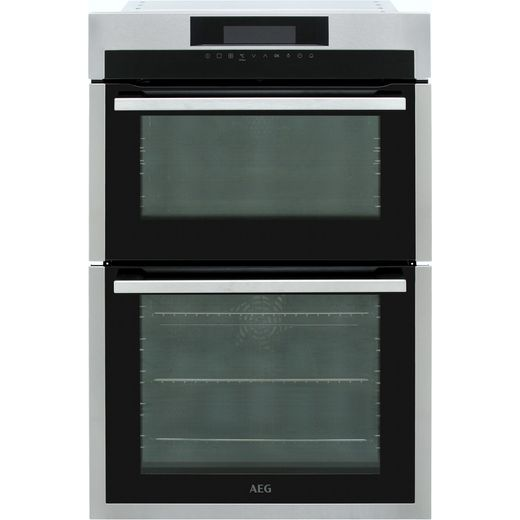 AEG DCE731110M Built In Electric Double Oven - Stainless Steel - A/A Rated