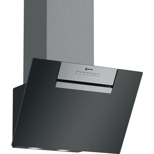 NEFF N30 D65IEE1S0B 60 cm Angled Chimney Cooker Hood - Black - B Rated