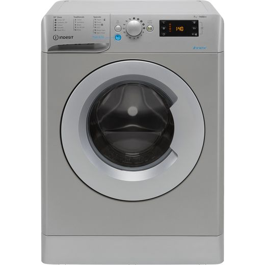 Indesit BWE71452SUKN 7Kg Washing Machine with 1400 rpm - Silver - E Rated