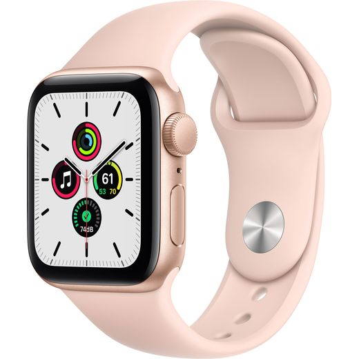 Apple Watch SE, 40mm, GPS [2020] - Gold Aluminium Case with Pink Sand Sport Band
