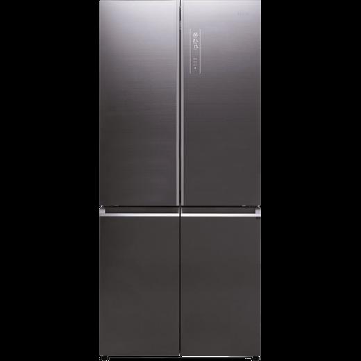 Haier HTF-508DGS7 American Fridge Freezer - Titanium Glass - F Rated