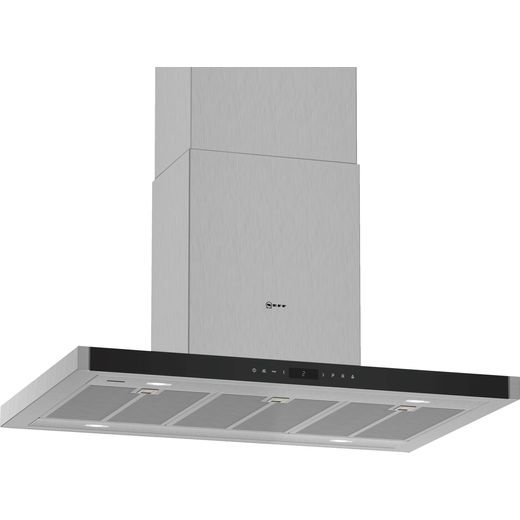NEFF N90 I96BMV5N5B Wifi Connected 90 cm Island Cooker Hood - Stainless Steel - A Rated