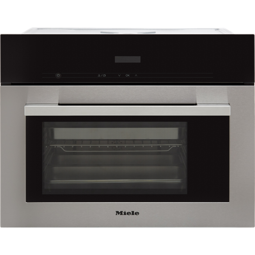 Miele ContourLine DG2740 Built In Compact Steam Oven - Clean Steel