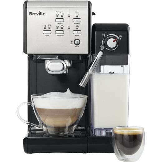 Breville VCF107 Bean to Cup Coffee Machine - Black / Chrome