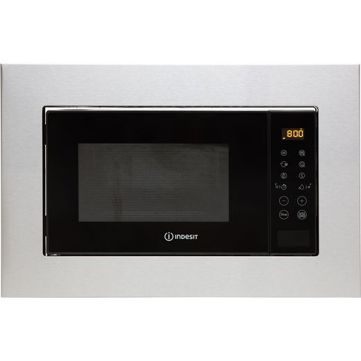 Indesit MWI120GXUK Built In Microwave With Grill - Stainless Steel