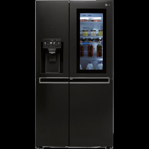 LG InstaView™ Door-in-Door™ GSX960MCCZ Wifi Connected American Fridge Freezer - Matte Black - F Rated