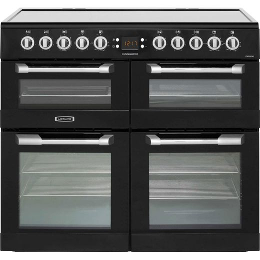 Leisure Cuisinemaster CS100C510K 100cm Electric Range Cooker with Ceramic Hob - Black - A/A/A Rated
