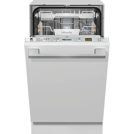 Miele G5481SCVi Fully Integrated Slimline Dishwasher - Clean Steel Control Panel with Fixed Door Fixing Kit - F Rated