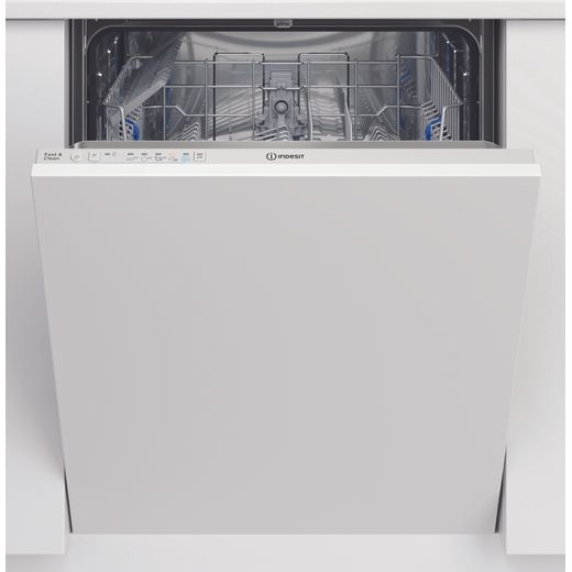 Indesit DIE2B19UK Fully Integrated Standard Dishwasher - White Control Panel with Fixed Door Fixing Kit - A+ Rated