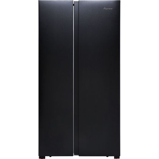 Fridgemaster MS91518FBS American Fridge Freezer - Black / Stainless Steel - F Rated