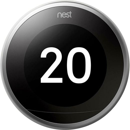 Nest Learning Smart Thermostat 3rd Gen - Requires Professional Install - Stainless Steel