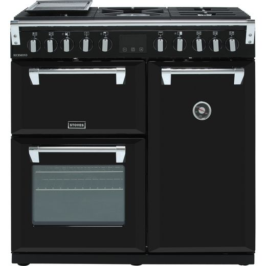 Stoves Richmond S900DF 90cm Dual Fuel Range Cooker - Black - A/A/A Rated