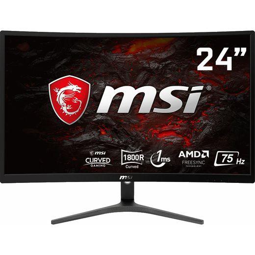 "MSI Optix G241VC Full HD 24"" 75Hz Curved Gaming Monitor with AMD FreeSync - Black"