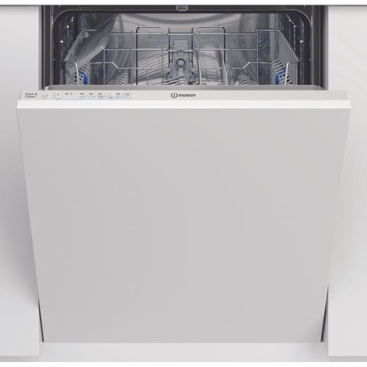 Indesit DIC3B+16UK Fully Integrated Standard Dishwasher - White Control Panel with Fixed Door Fixing Kit - F Rated