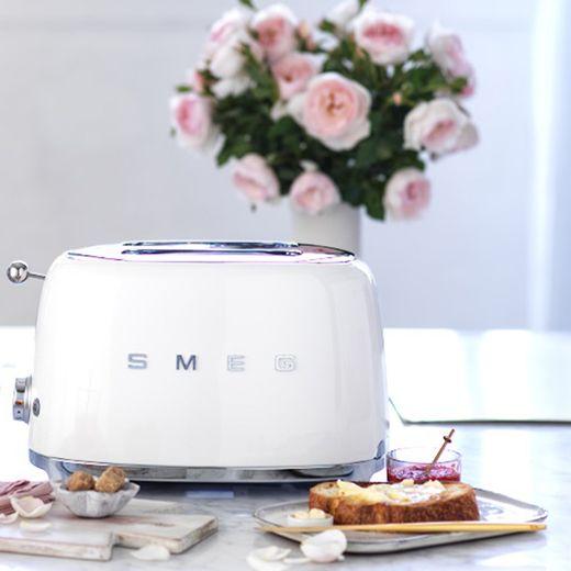 Smeg 50's Retro TSF01WHUK 2 Slice Toaster - White
