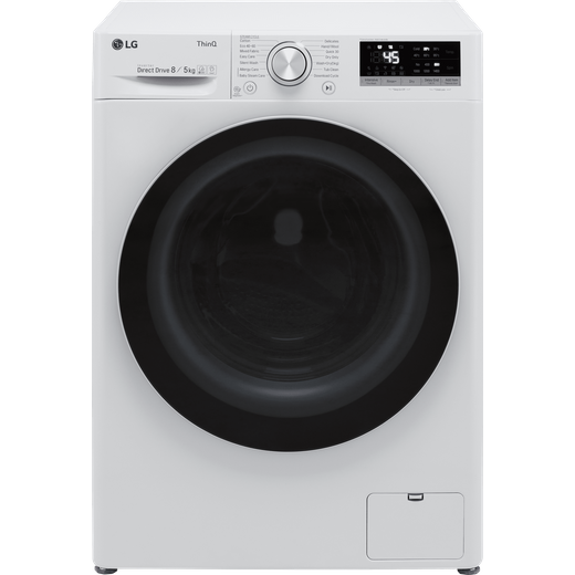 LG V5 FWV585WSE Wifi Connected 8Kg / 5Kg Washer Dryer with 1400 rpm - White - E Rated