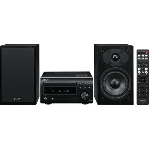 Denon D-M41DABBKBKEK 60 Watt Hi-Fi System with Bluetooth - Black