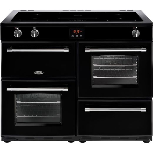 Belling Farmhouse110Ei 110cm Electric Range Cooker with Induction Hob - Black - A/A Rated