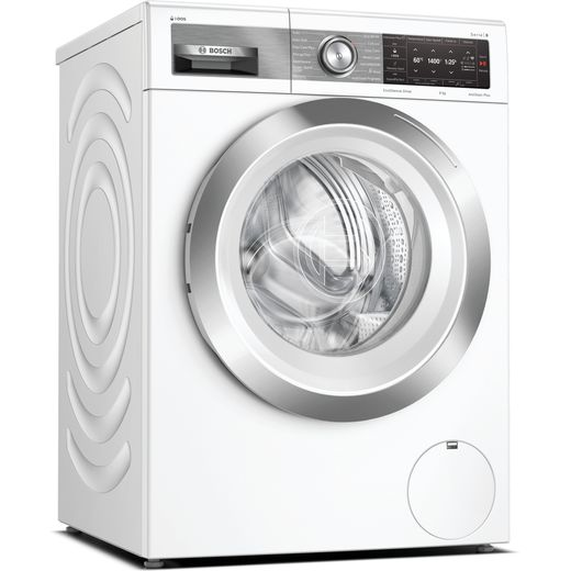 Bosch Serie 8 i-Dos™ WAV28EH3GB Wifi Connected 9Kg Washing Machine with 1400 rpm - White - A Rated
