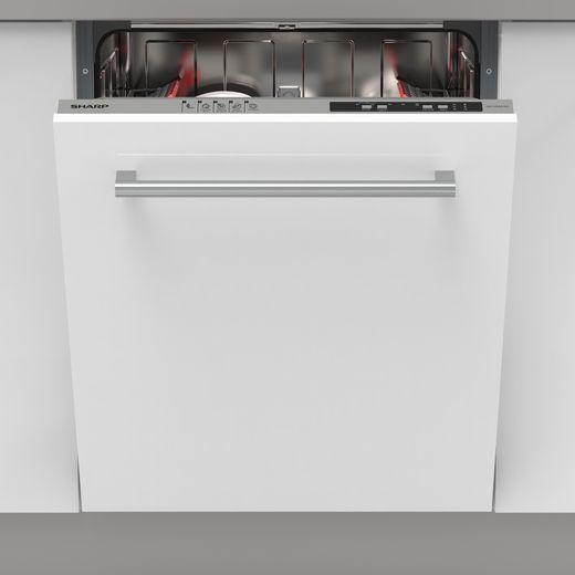 Sharp QW-NI14I47EX-EN Built In Standard Dishwasher - Silver