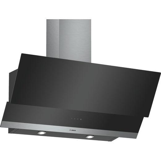 Bosch Serie 2 DWK095G60B 90 cm Angled Chimney Cooker Hood - Black - C Rated