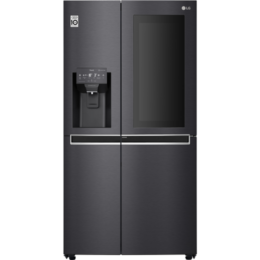 LG InstaView™ Door-in-Door™ GSX960MCCZ American Fridge Freezer - Matte Black