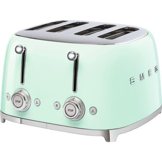 Smeg 50's Retro TSF03PGUK 4 Slice Toaster - Pastel Green