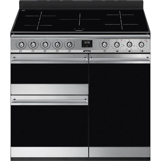 Smeg Symphony SY93I-1 Electric Range Cooker with Induction Hob - Stainless Steel - A/B Rated
