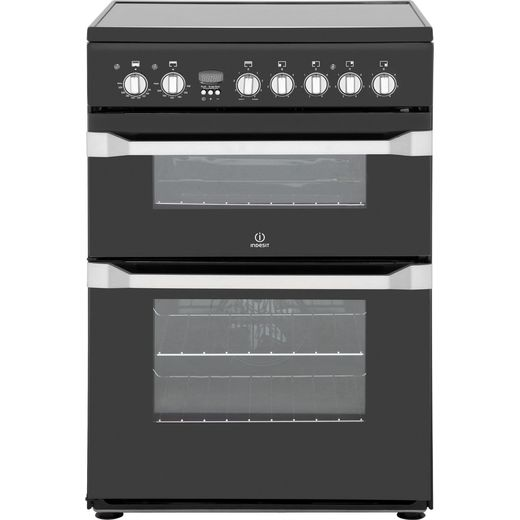Indesit Advance ID60C2KS Electric Cooker with Ceramic Hob - Black - B/B Rated