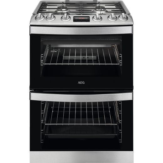 AEG CGB6130ACM Dual Fuel Cooker - Stainless Steel - A Rated