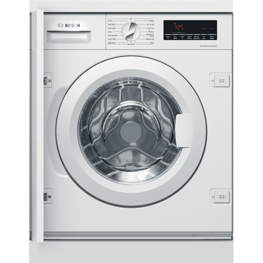 Bosch Serie 8 WIW28501GB Integrated 8Kg Washing Machine with 1400 rpm - White - C Rated