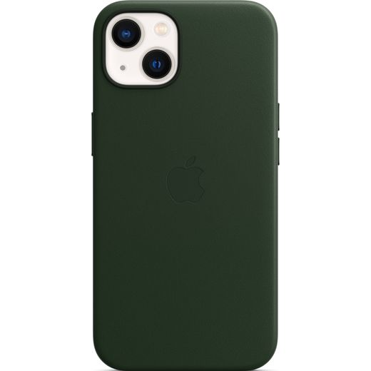 Apple Leather Case with Magsafe for iPhone 13 - Sequoia Green
