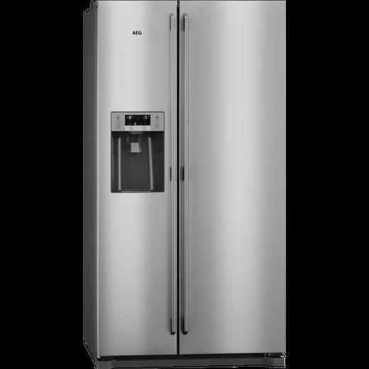 AEG RMB76111NX American Fridge Freezer - Stainless Steel - G Rated