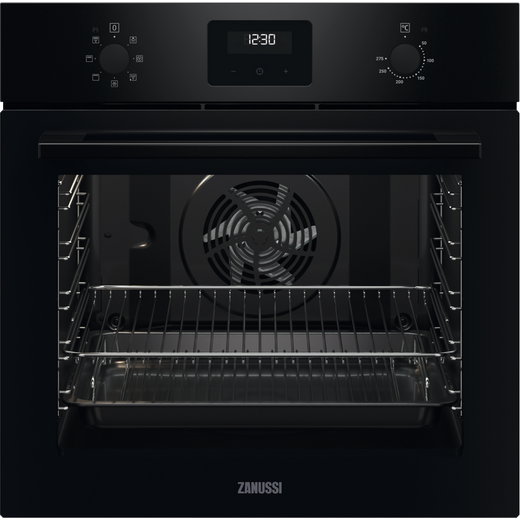 Zanussi ZOHNX3K1 Built In Electric Single Oven - Black - A Rated