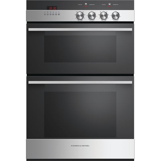 Fisher & Paykel Designer OB60B77CEX3 Built In Electric Double Oven - Black / Stainless Steel - A/A Rated
