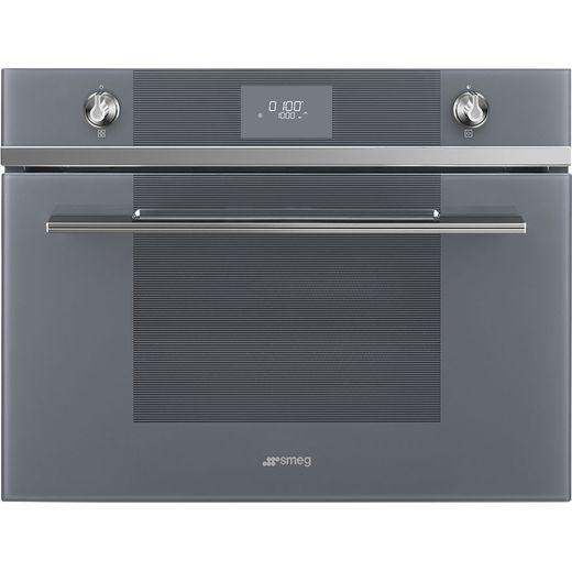 Smeg Linea SF4101MS1 Built In Microwave With Grill - Silver