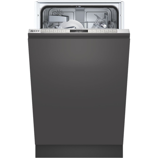 NEFF N50 S875HKX20G Wifi Connected Fully Integrated Slimline Dishwasher - Stainless Steel Control Panel with Fixed Door Fixing Kit - E Rated