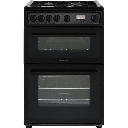 Hotpoint HAG60K 60cm Gas Cooker with Variable Gas Grill - Black - A+/A Rated