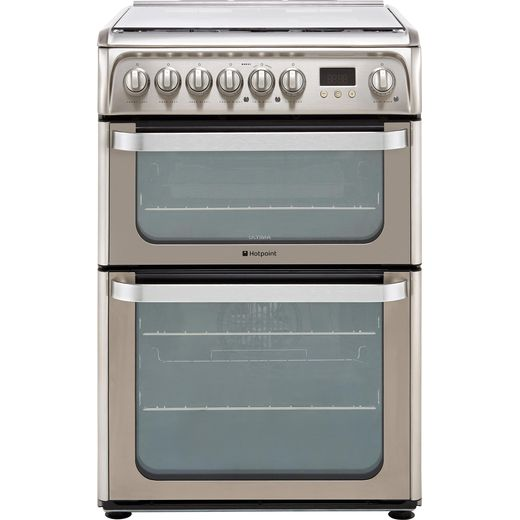 Hotpoint Ultima HUD61XS 60cm Dual Fuel Cooker - Stainless Steel - A/A Rated