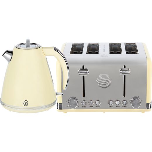Swan Retro STP7041CN Kettle And Toaster Set - Cream