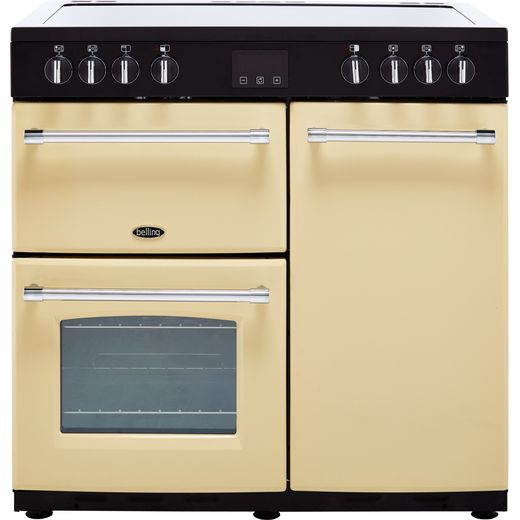 Belling Farmhouse90E 90cm Electric Range Cooker with Ceramic Hob - Cream - A/A Rated