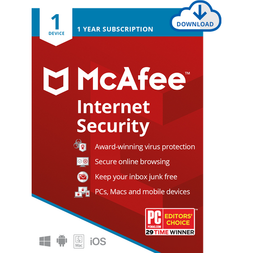 McAfee Internet Security Digital Download for 1 Device