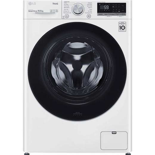 LG V5 F4V510WSE Wifi Connected 10.5Kg Washing Machine with 1400 rpm - White - B Rated