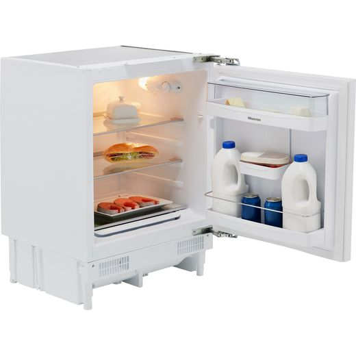 Hisense RUL173D4AW11 Integrated Under Counter Fridge - Fixed Door Fixing Kit - White - F Rated