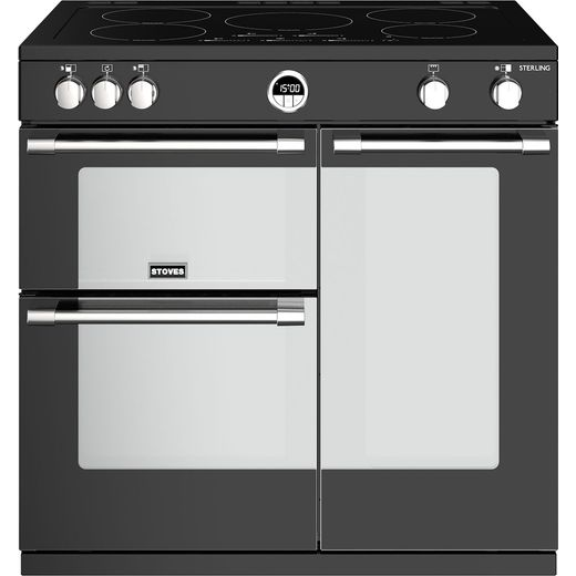 Stoves Sterling S900EI 90cm Electric Range Cooker with Induction Hob - Black - A/A/A Rated